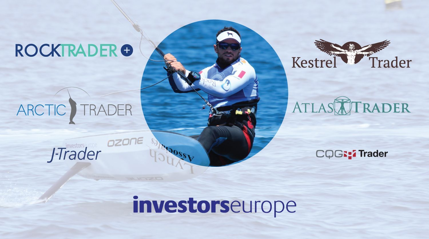 Nico Parlier, World Hydrofoil Champion, is Sponsored by Investors Europe, World Online Trading PLatform Champions!