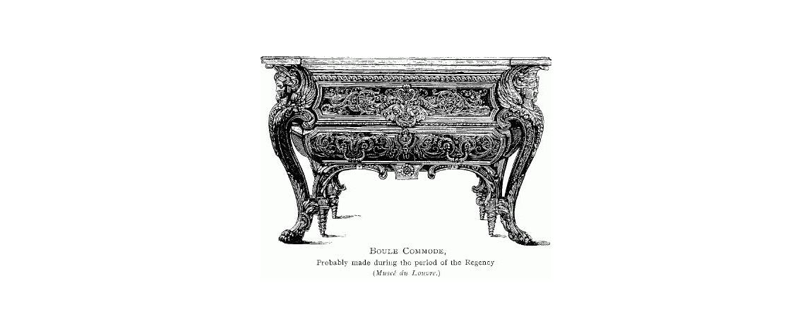 Andre-Charles Boulle Commode Louvre